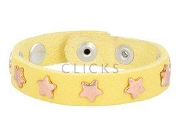 Below 16 Kinderarmband studs 508 geel / rosé ster (KB2148SR/R)