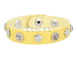 Below 16 Kinderarmband studs 508 geel / zilver ster-grote strass (KB2261SR-Z/ST)