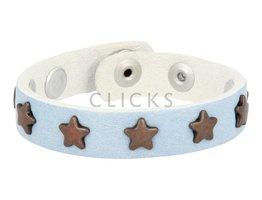 Below 16 Kinderarmband studs 505 lichtblauw / brons ster (KB2272SR/B)