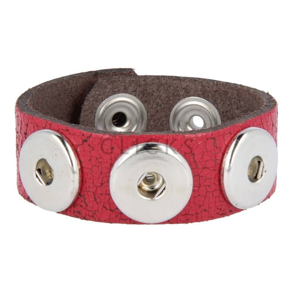 Armband   Rot Krakelee