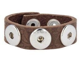 Armband (KB357) Blume Braun Relief
