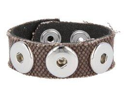 Armband (KB358) Kanevas Braun