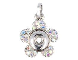Kettenanhänger MiniClicks Blume mit Strass Diamant  (KHCM076)