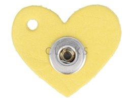 Kettenanhänger Mini Herz 508 Gelb S (KHCM087S)