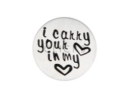 Sweet Memory plate : i carry your heart in my heart (CMP011)