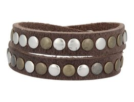 Tenzy Armband 7 mm studs dallas pine (AB004D)
