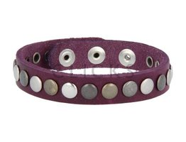 Tenzy Armband 7 mm studs paars (AB009S)