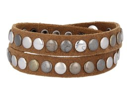 Tenzy Armband 7 mm studs country soepel (AB017D)