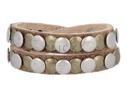 Tenzy Armband 10 mm studs dallas natural goud / zilver (AB024D)