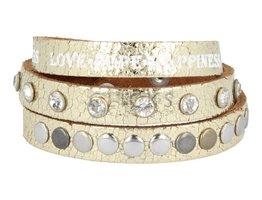 Tenzy Armband driedubbel goud metallic (AB137T)