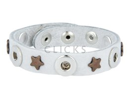 Tenzy 1077 Armband Himmel Nubuk / 3 Mini Click-Bronzestern (AB2041S3 / SR-K)