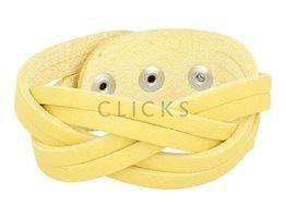 Tenzy Geflochten Armband 6-cm breit 24 508 gelb (AB2170)
