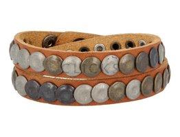 Tenzy Armband 10mm Ohrstecker Ohrstecker cognac-Mix (AB229D / 10)