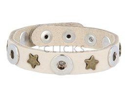Tenzy Armband studs 1078 sand nubuck / 3 miniclick-goud ster