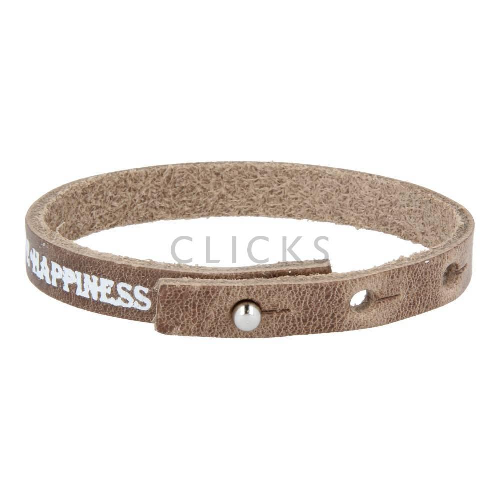 Tenzy Armband einzeln Love-Hope-Hapines Braun Wachs (AB289)