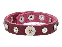 Tenzy Armband Studs 1120 Bordeauxrot/1 MiniClick-Strass klein