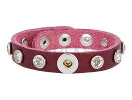 Tenzy Armband Studs 1120 Bordeauxrot/1 MiniClick-Strass gross