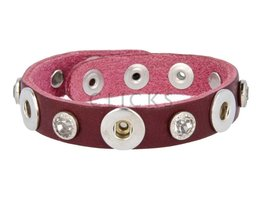 Tenzy Armband Studs 1120 Bordeauxrot/3 MiniClick-Strass gross