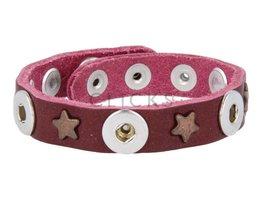 Tenzy Armband Studs 1120 Bordeauxrot/3 MiniClick-Sterne Bronze