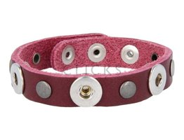 Tenzy Armband Studs 1120 Bordeauxrot/3 MiniClick-Mischung Studs