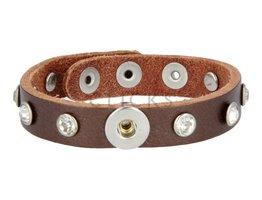 Tenzy Armband Studs 1047 Bronze/1 MiniClick-Strass klein
