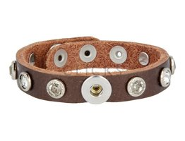 Tenzy Armband Studs 1047 Bronze/1 MiniClick-Strass gross