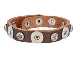 Tenzy Armband Studs 1047 Bronze/3 MiniClick-Strass gross