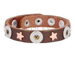 Tenzy Armband Studs 1047 Bronze/3 MiniClick-Sterne Rosé