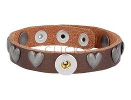 Tenzy Armband Studs 1047 Bronze/1 MiniClick-Herz Altsilber