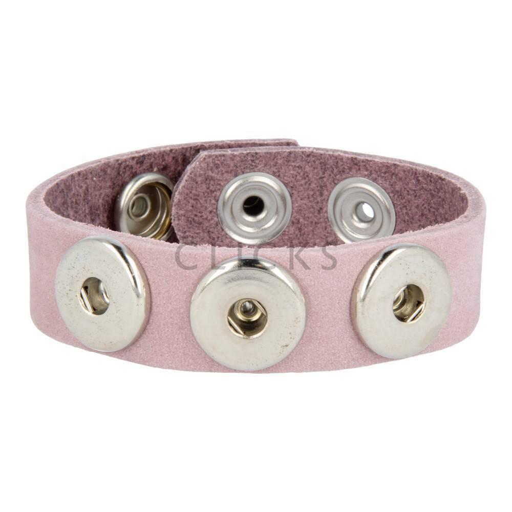 Clicks Armband Clicks Rosa Nubuk (1002M23)