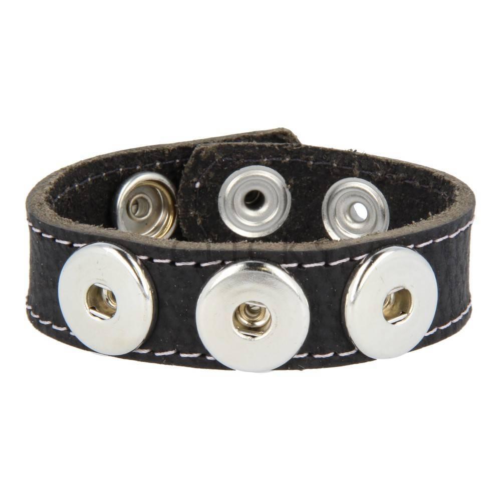 Clicks Armband Clicks Schwarz Gesteppt Violett (1016M22)