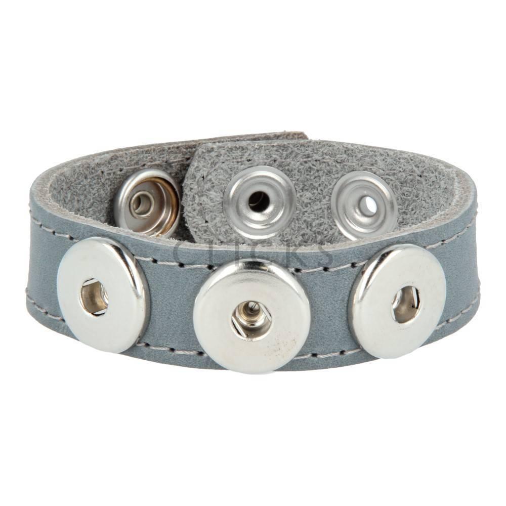Clicks Armband Clicks 13.320Grau/Grau gesteppt (1112M21)