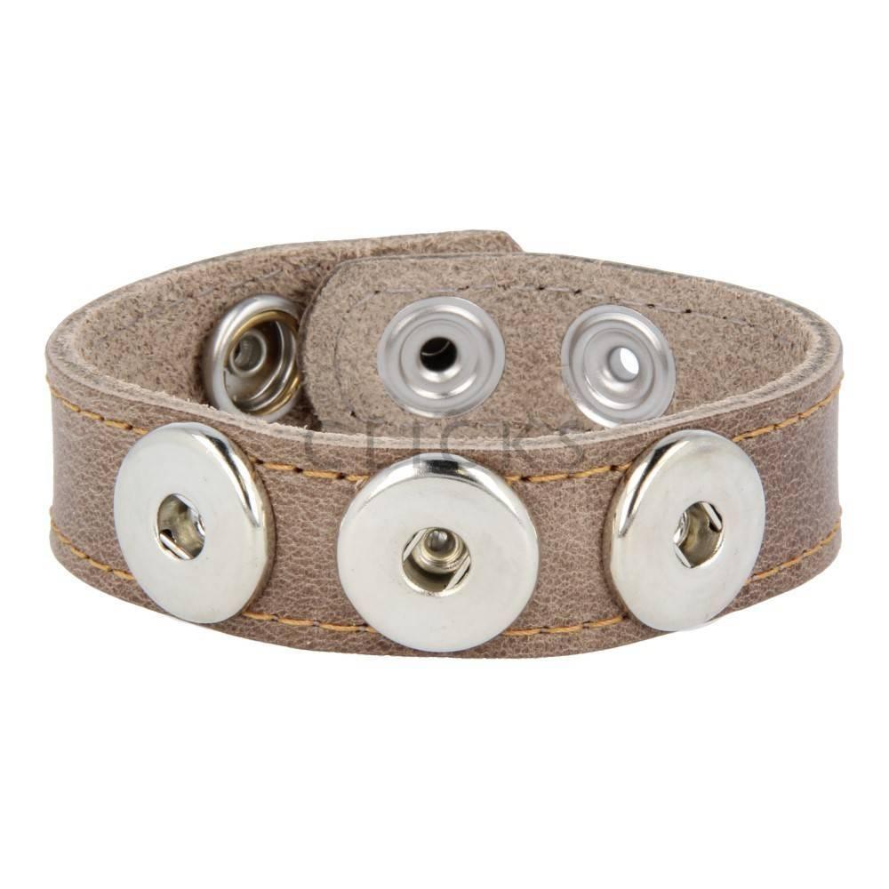 Clicks Armband Clicks Braun Wachs/Kastanienbraun gesteppt (1113M21)