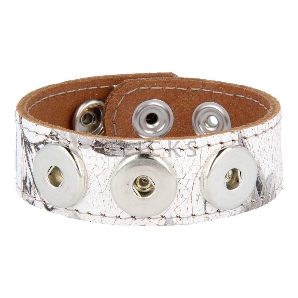 Clicks Armband Clicks Blume Krakelee/Grau gesteppt (1117L22)