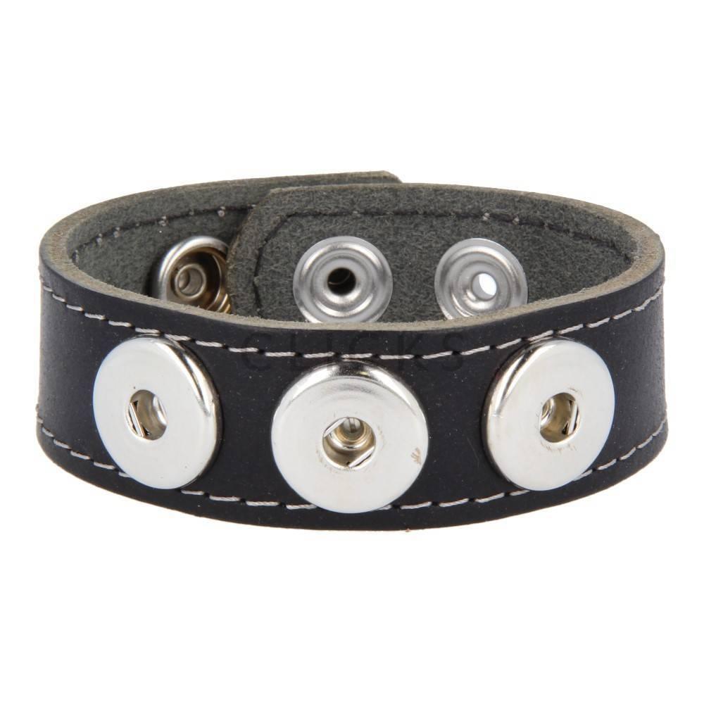 Clicks Armband Clicks Esbeco Schwarz/Grau gesteppt (1118L21)
