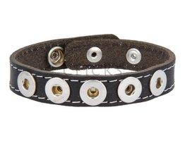 Armband Mini (MBNL010/25/5) Schwarz Gesteppt