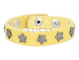 Below 16 Kinderarmband studs 508 geel / oudzilver ster (KB2134SR/OZ)