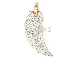 Malai Engelroeper Gouden ketting met strass engelroeper vleugel (ERV066G)
