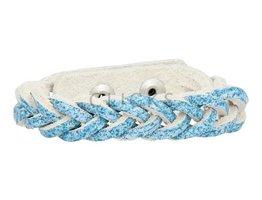 Geflochtenes Armband aus Leder - Douro Blau - schmal  (GA1014)