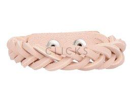 Geflochtenes Armband aus Leder - 501 Lachsfarbig - schmal  (GA1018)