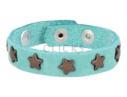Below 16 Kinderarmband Nieten helltürkis / bronze star (KB2105SR / B)