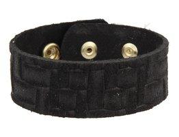 Tressia Tressia - TR1001 - Leren armband - Zwart