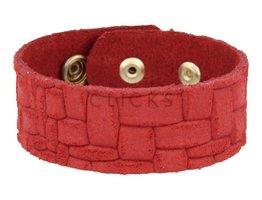 Tressia Tressia - TR1002 - Leren armband - Cherry