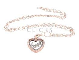 Sweet Memory Lockets Sweet Memory Locket im Herzform mit Love Charms (MLS1004)