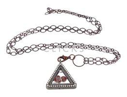 Sweet Memory Lockets Sweet Memory Locket Dreieck mit Freundschaft Charms (MLS1032)