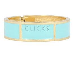 Lucenti Lucenti - LU1000 - Clip Armband - Gold - Aqua-Blau