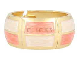 Lucenti Lucenti - LU1003 - Clip Armband - Gold - Pink - Weiß