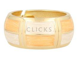 Lucenti Lucenti - LU1004 - Klemarmband - Goud - Oranje - Wit