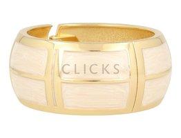 Lucenti Lucenti - LU1005 - Klemarmband - Goud - Wit