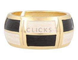 Lucenti Lucenti - LU1011 - Clip Armband - Gold - Schwarz - Weiß